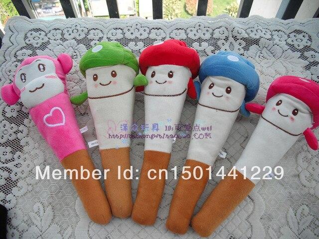 Cartoon wooden club wedding gifts plush toy massage stick knock back stick fitness stick