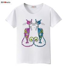 BGtomato New style elegent cats shirt brand casual top tees fashion t shirt women comfortable clothes women t-shirt plus size
