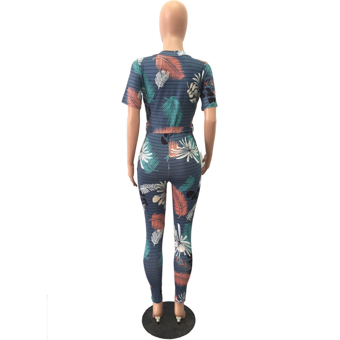 a42727e0a6a YJSFG HOUSE Women V-neck Floral Print Jumpsuits Rompers Sexy Elegant Summer  Short Sleeve Overalls One Piece Catsuit Playsuits