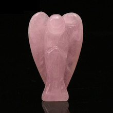 Rose Quartz, Clear Quartz and Opalite Angel Figurines