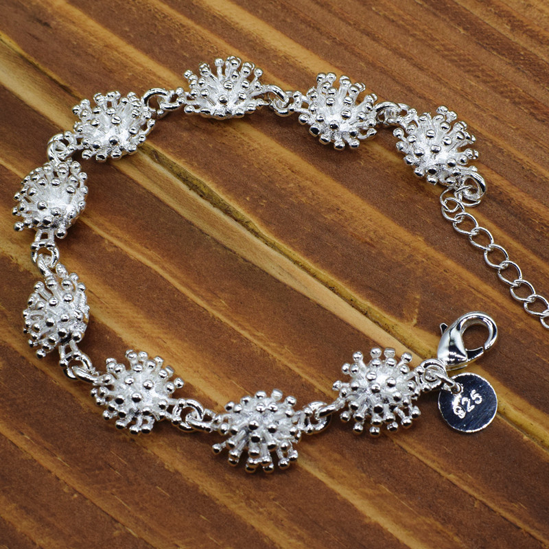 Silver Sea urchin Sea urchin charm Sterling silver sea urchin necklace
