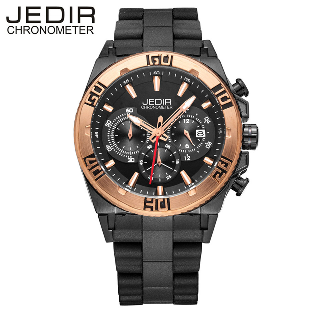 JEDIR Men Watches Top Luxury Brand Chronograph Function Men Casual Quartz Watch Men Running Sports Waches Relogio Masculino 3009 ecotime relogio 3009