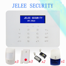 Free Shipping LCD Display Wireless GSM Alarm System Security Smart Alarm for Home Protection