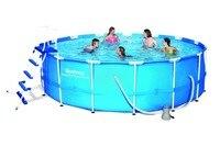 56488 Bestway Dia15' Ht42 открытый круглый толстый бассейн для дачи/457x122 см большая круглая рама плавательный бассейн для семьи