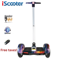 IScooter 10inch Hoverboard Electric Scooter Self Balancing Scooter Smart Two Wheel Skateboard With Handle Bluetooth Speaker