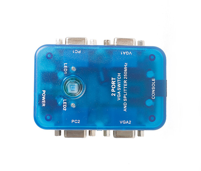 MT-VIKI VGA Splitter Switch 2 In 2 Out Selector Connector Support 1920*1440 High Resolution HD MT-202S