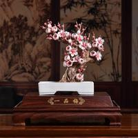 Ceramic, porcelain plum flowers, sculpture, art, crafts, Chinese style decoration, to decoration, home decoratio