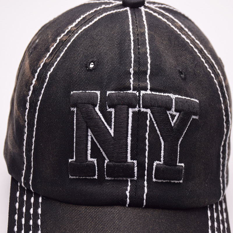 c16d0fd60 High Quality Men Vintage Dad Hat NY Embroidery Letter Outdoor Sports Caps  100% Cotton Baseball Cap For Women