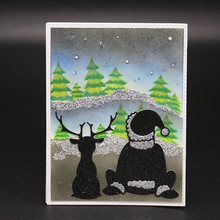 Quiet and peaceful night Metal Cutting Dies Scrapbooking Embossing DIY Decorative Cards Cut Stencils
