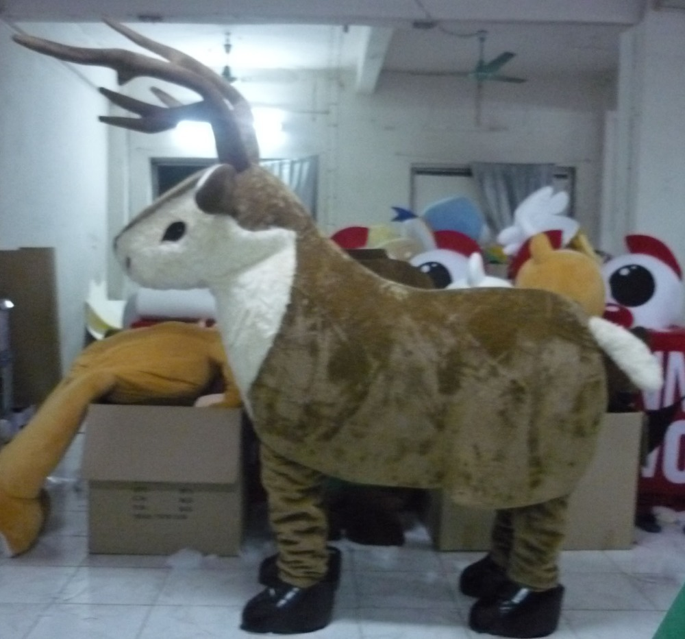 two person animal costume reindeer 2 person mascot costume for adults-in Mascot from Novelty u0026 Special Use on Aliexpress.com | Alibaba Group & two person animal costume reindeer 2 person mascot costume for ...