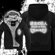 Envío libre Invierno Espesar chaqueta Anime ataque en titán cosplay traje shingeki no kyojin Reflexivo sudadera con capucha 81202
