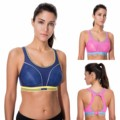 Women's medium impact Wire Free Non Padded Racerback Run Sports Bra