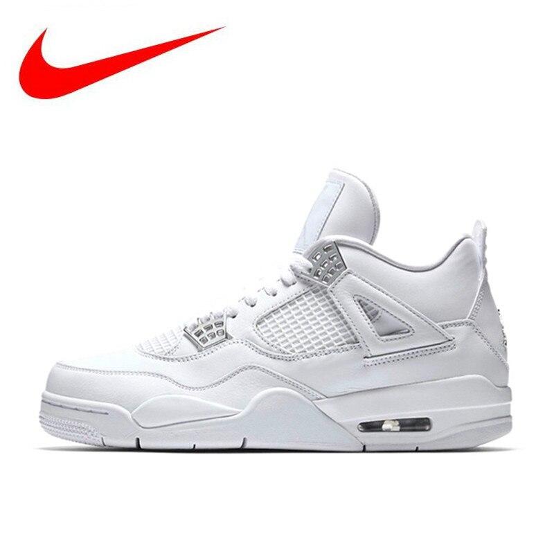 00b6355f4345 Original Nike Air Jordan 4 Laser AJ4 Breathable Men s New Arrival Authentic Basketball  Shoes Sports Sneakers 308497-100