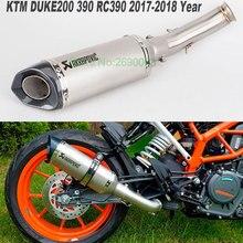 Мотоцикл Akrapovic выхлопная средняя труба мотоцикл глушитель для KTM DUKE 390 DUKE 200 250 DUKE RC390 DUKE 125 RC390