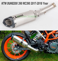 Motorcycle Akrapovic Exhaust Middle Pipe Motorbike Muffler For KTM DUKE 390 DUKE 200 250 DUKE RC390 DUKE 125 2017 2018 RC390