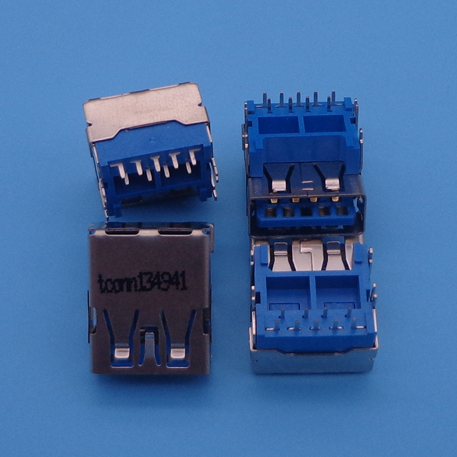 5X Original Neue USB 3.0 Laptop Usb-anschluss Blau USB JACK USB3.0 Erhöhung DIP füße kupfer unten hoch platte