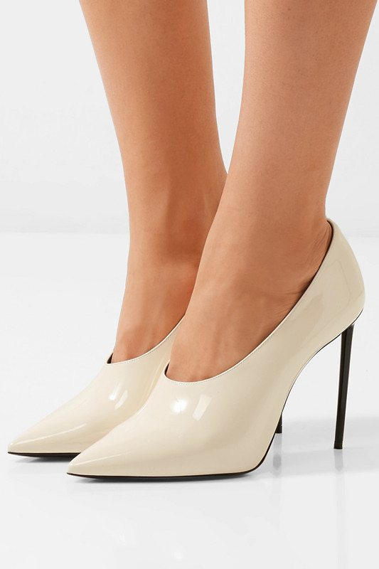 2018 Sexy pointed toe women stiletto high heels thin heel pumps woman beige party wedding shoes office lady party dress shoes 2018 women yellow high heel pumps pointed toe metal heels wedding heel dress shoes high quality slip on blade heel shoes