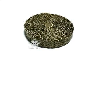 Image 2 - 15 m/50ft X 1 inç Titanyum Termal Egzoz Üstbilgi Borusu Isı Wrap Egzoz Wrap Lava Elyaf Bant 6 adet Paslanmaz Çelik Bağları Seti