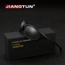 JIANGTUN гибкие TR90 спортивные солнцезащитные очки Мужские поляризационные брендовые дизайнерские UV400 Солнцезащитные очки для улицы крутые очки Oculos