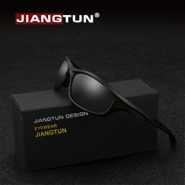 290aee4b97 JIANGTUN Flexible TR90 Sport Sunglasses Men Polarized Brand Designer UV400  Protection Sun Glasses Outdoor Cool Goggles