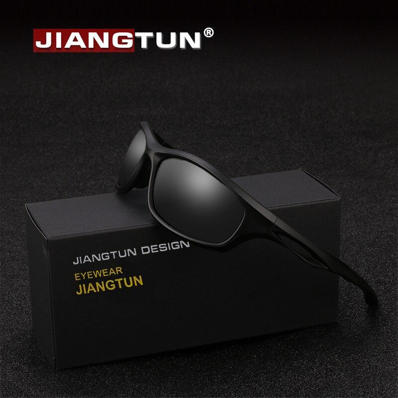 JIANGTUN Flexible TR90 Sport lunettes de soleil hommes polarisés marque Designer UV400 Protection lunettes de soleil en plein air Cool lunettes Oculos