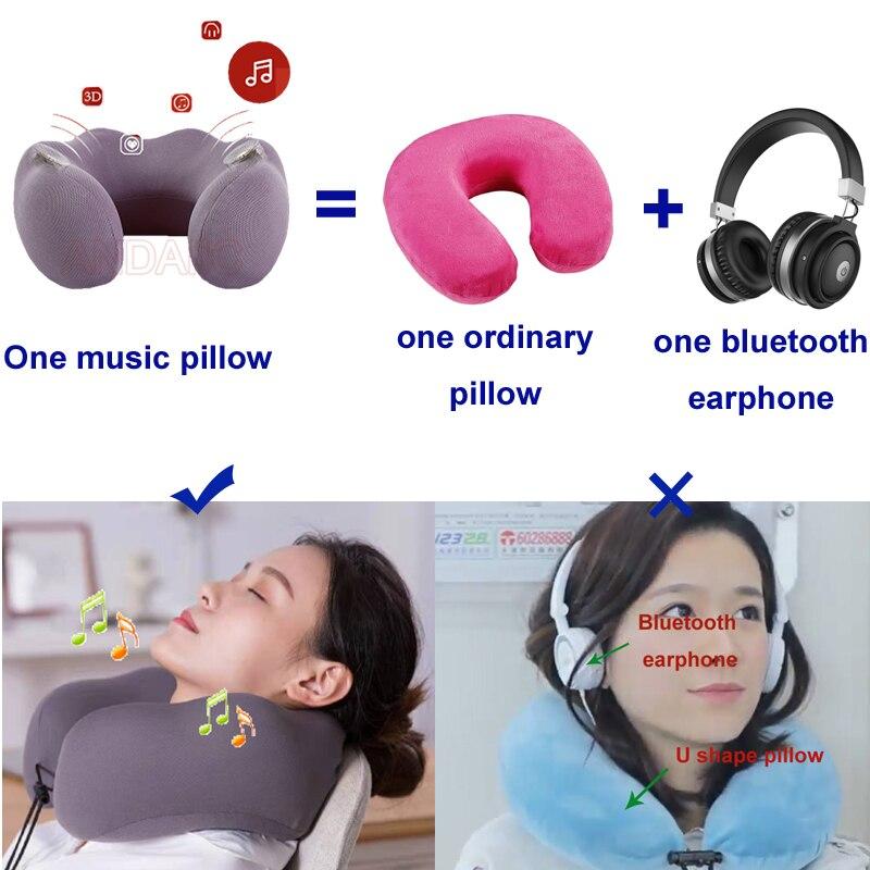 pillow earphone music neck pillow
