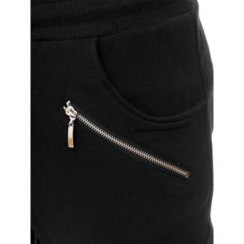 Pantalones de chándal para hombre 2019 otoño nuevos pantalones de chándal de Color negro de ocio pantalones de chándal informales para hombre