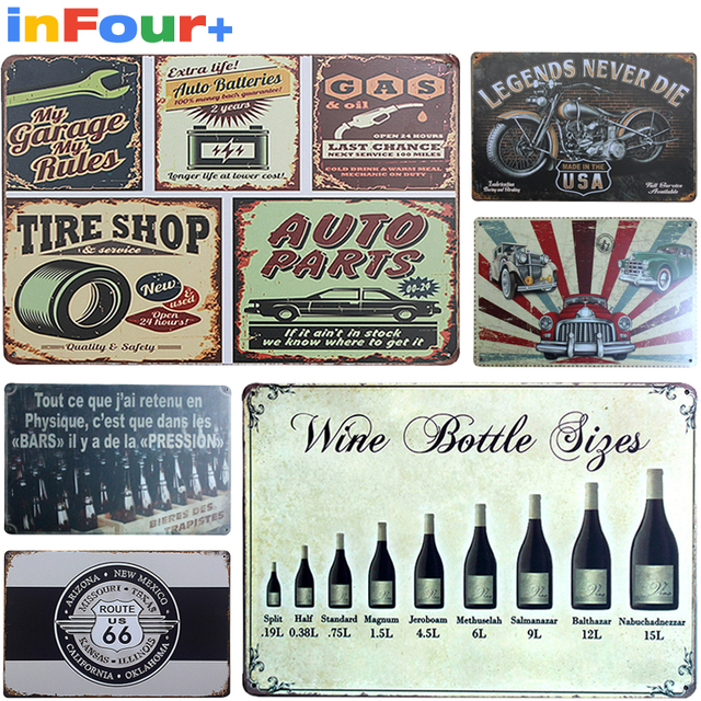 [Wine]Shabby Chic Vintage Metal Signs Home Decor Vintage Tin Signs Pub Vintage Decorative & Wine]Shabby Chic Vintage Metal Signs Home Decor Vintage Tin Signs ...