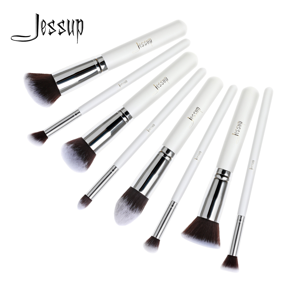 Jessup Professional 8pcs Foundation Blush Liquid Kabuki Brush Makeup Brushes Tools Set Beauty Cosmetics kit T056 professional 10pcs blue silver jessup makeup brushes sets beauty kit foundation kabuki precision brush cosmetics make up tools
