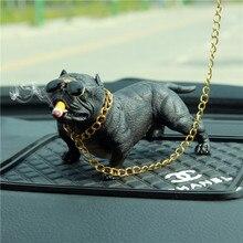 French bulldog Buffalo boutique pet statue bulldog furnishes car model boutique dog decoration small laughter цена 2017
