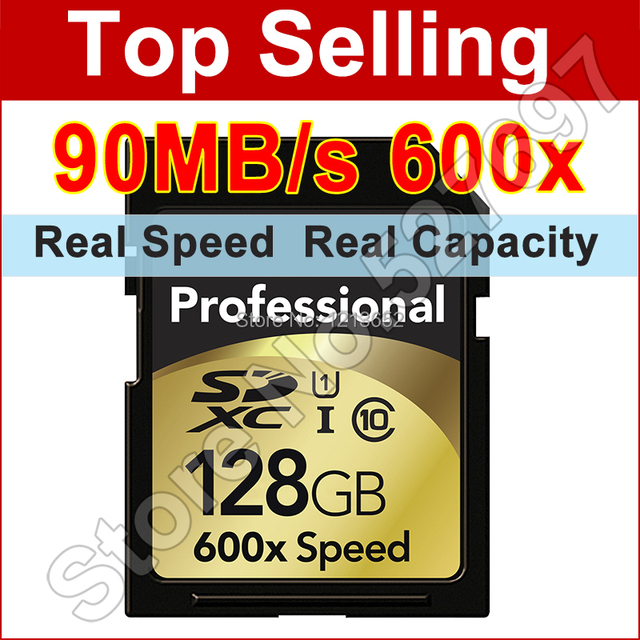 Brand New 90MB/s 600x 16GB 32GB 64GB 128GB SD Card SDHC SDXC Class 10 Flash Memory Card UHS-I For Canon Nikon Digital SLR Camer