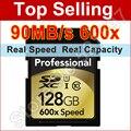Nova marca de 90 MB/s 600x16 GB 32 GB 64 GB 128 GB Cartão SD SDHC SDXC classe 10 uhs cartão de memória flash-para canon nikon digital slr camer