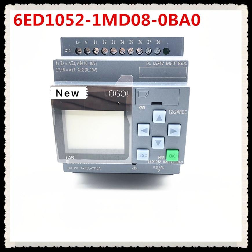 New Original 6ED1052-1MD08-0BA0  LOGO 12 24RCE PLC With Display Module 12 24V DC RELAY 8 DI 4AI 6ED1 052-1MD08-0BA0 PLC