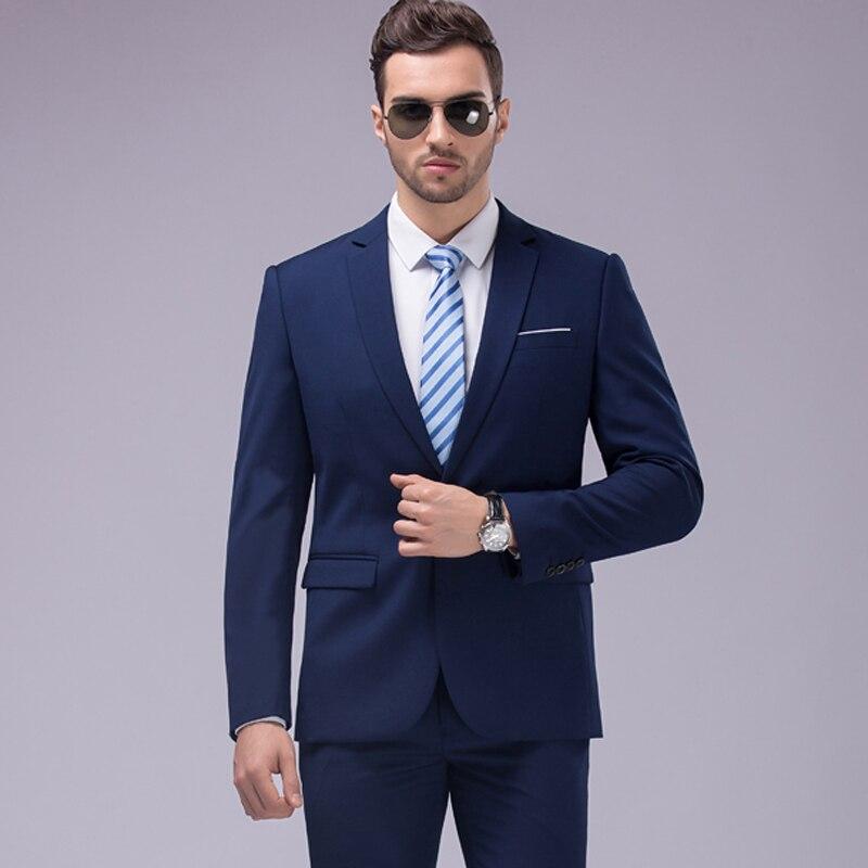 Men's Clothing ... Suits & Blazers ... 32785294239 ... 3 ... OSCN7 12 Color 2pcs Slim Fit Suits Men Notch Lapel Business Wedding Groom Leisure Tuxedo 2019 Latest Coat Pant Designs S-4XL ...