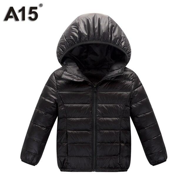 A15 niños prendas de abrigo cálido 2018 chica primavera otoño invierno con capucha Niño adolescente chaquetas para niños de la edad de 3 10 12 Y 14 16