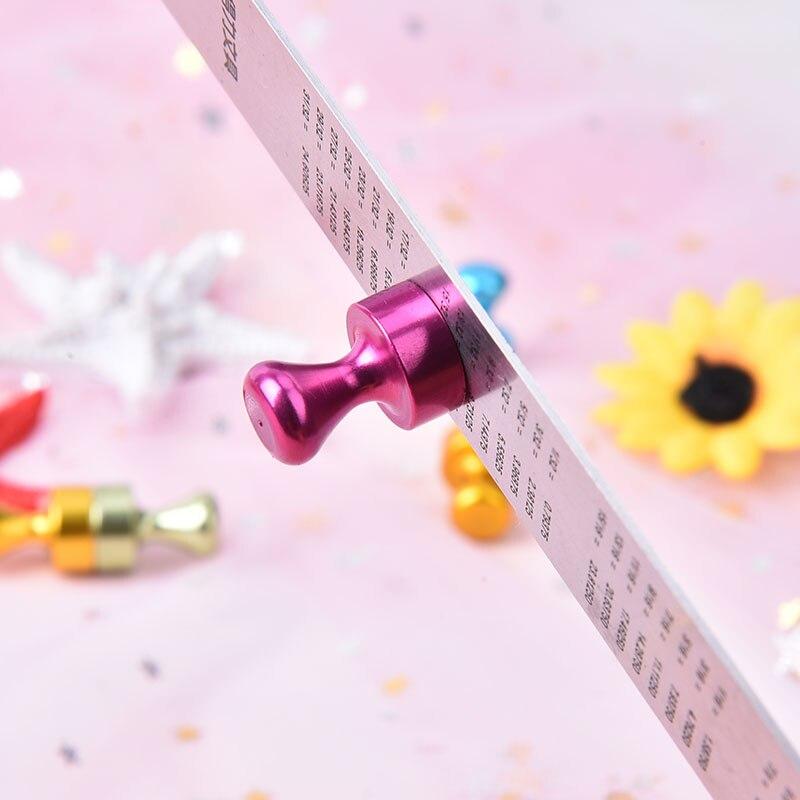 Peerless New 6pcs/set Strong Magnetic Thumbtacks Transparent Noticeboard Skittle Pin Magnets DIY Fridge Whiteboard
