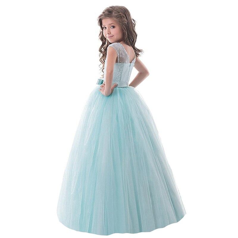 Fancy Girl Party Wear Kids Clothes Children Lace Princess Wedding ...