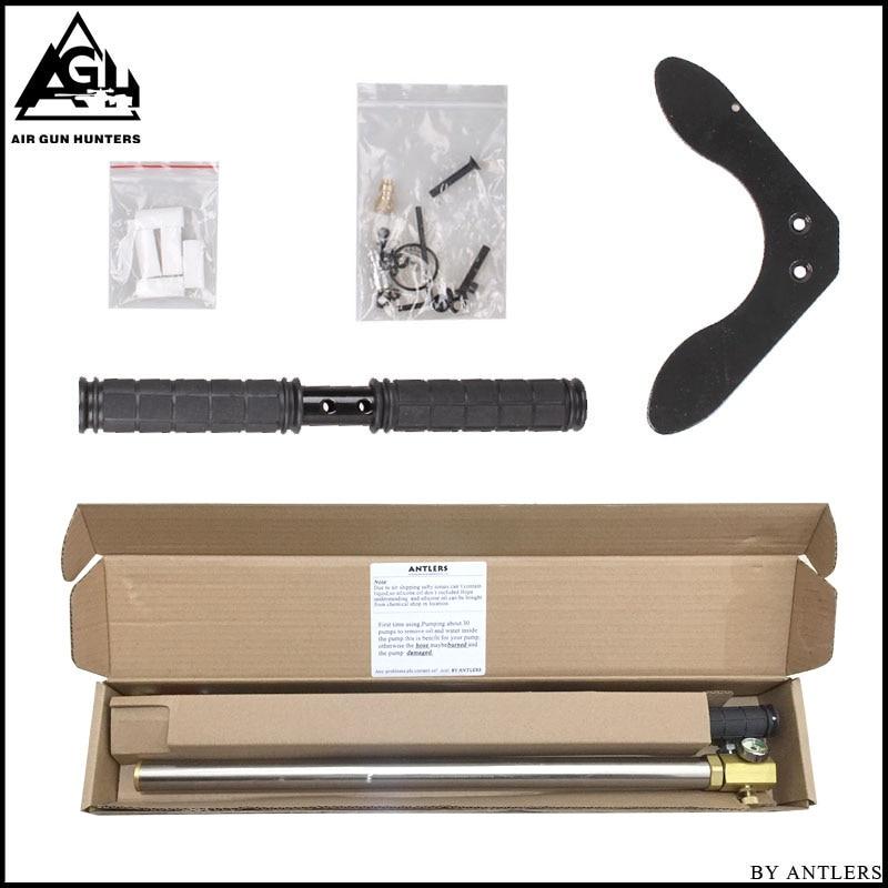 Купить с кэшбэком High Pressure air Pcp Pump 4500PSI/30MPA Stainless steel pcp air hand pump for airgun paintball scuba tank filling gauge filter