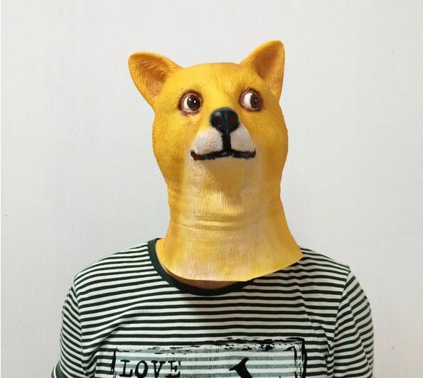 Crazy Dog Mask Nieuwigheid Creepy Halloween Kostuum Props - Feestversiering en feestartikelen - Foto 3