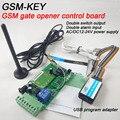 Frete grátis GSM chave DC200 duas saídas de relé e dois porta de entrada de alarme GSM portão opener placa de controle remoto