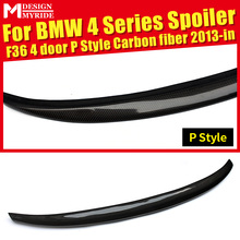 Rear Spoiler Tail P-Style For BMW F36 4-Door 420i 428i 430i 440i Carbon Fiber Rear Trunk Spoiler Tail Wing car styling 2013-2018 стоимость