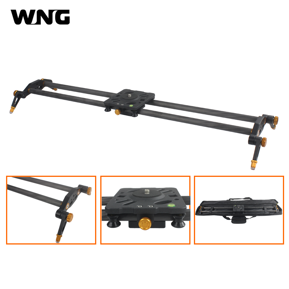 Winningear 80cm 100cm 6 Bearings Carbon Fiber DSLR Camera DV Slider Track Video Stabilizer Rail Track For DSLRs or Camcorder цена