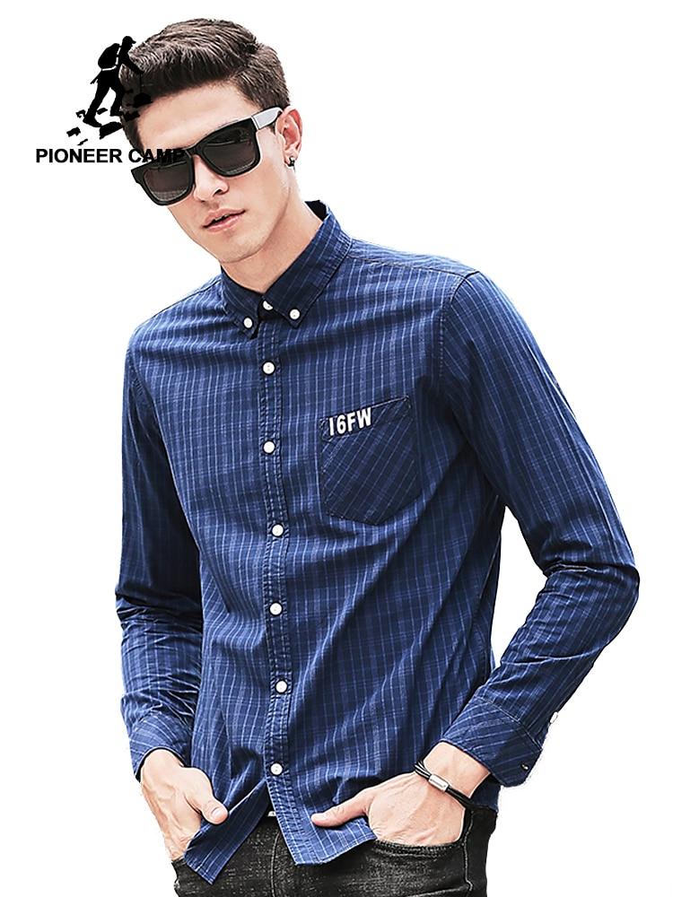 Pioneer Camp chemise à carreaux hommes manches longues nouvelle - Vêtements pour hommes - Photo 1