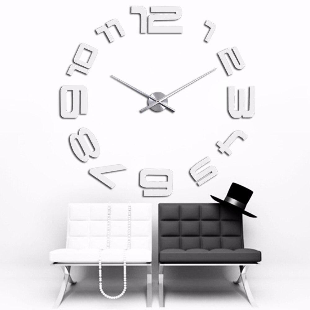 comprar superior de la manera de plata regalo creativo reloj grandes relojes de gran reloj de pared d etiqueta de metal decoracin para el