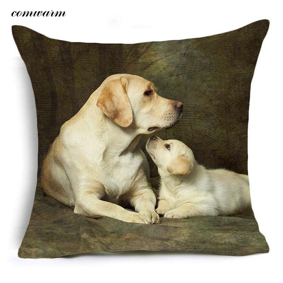 Comwarm Cozy Animals Familys Polyester Cushion Labrador