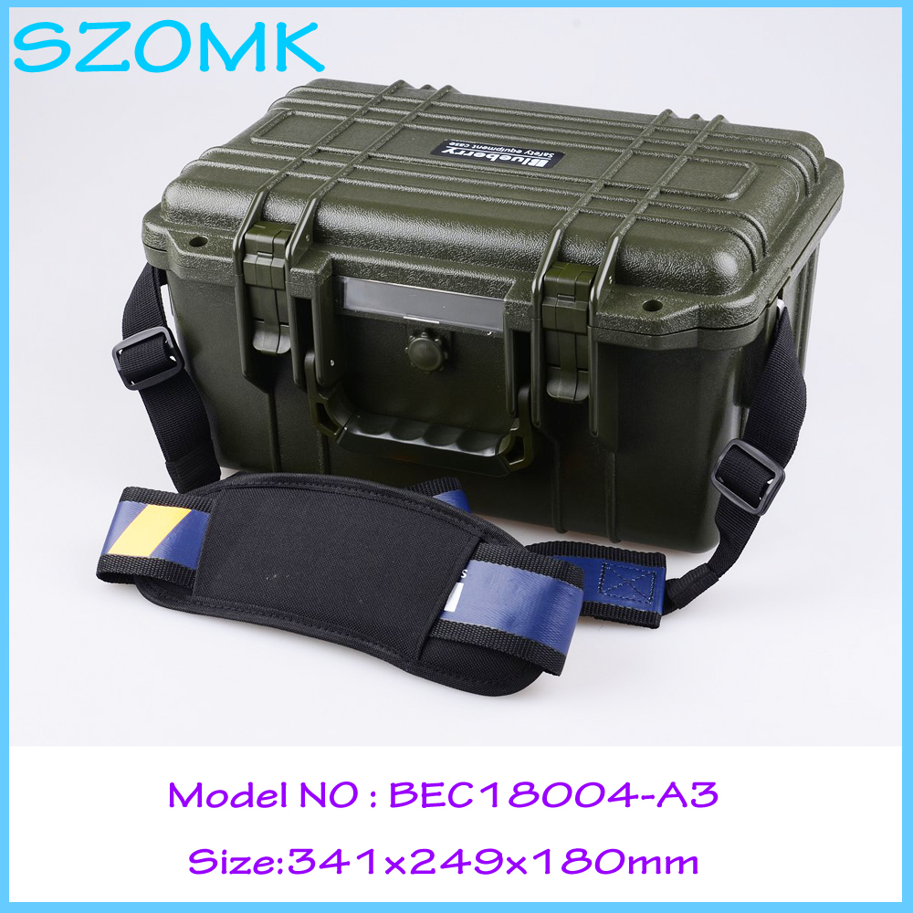 Impact resistant sealed waterproof safety case  security tool equipmenst encosure box with Foma Rohs approved 341x249x180 mm abhaya kumar naik socio economic impact of industrialisation