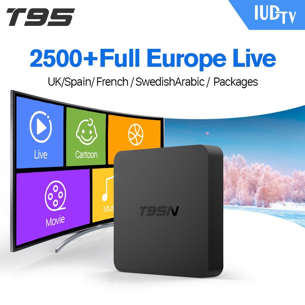 T95N Android 6.0 Smart TV Set Top Box 2 + 8G Media...