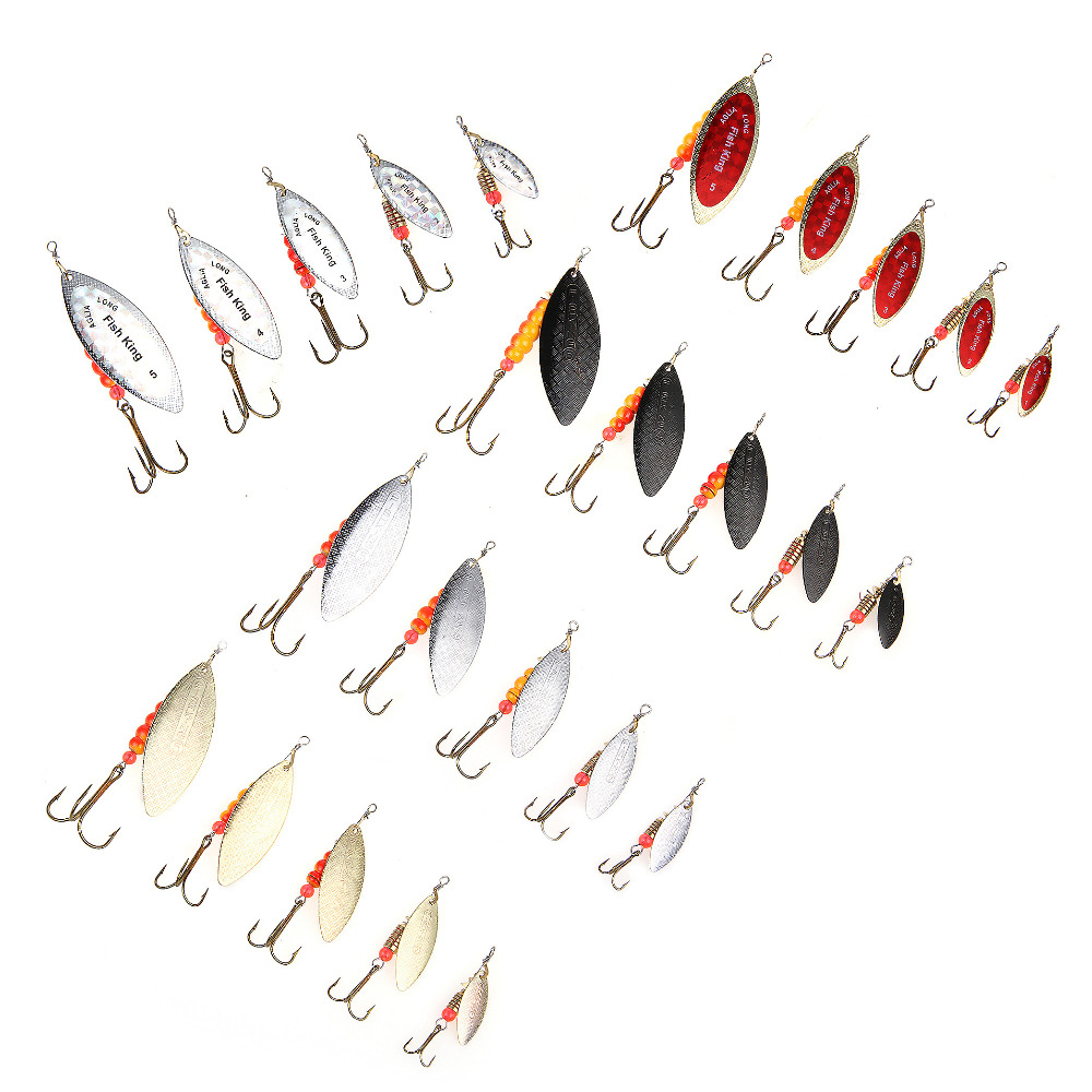 FISH KING Brand 1PC 1 2 3 4 5 Willow shaped Mepps Spinner Bait font b
