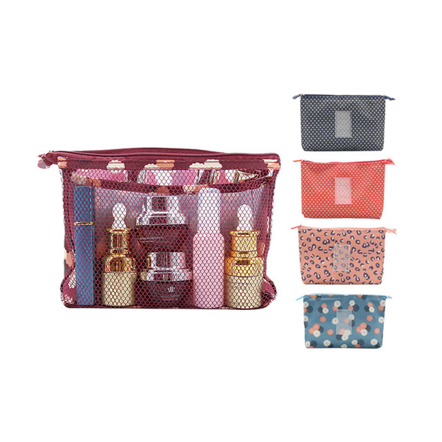 05a742b16376 Women Multifunction Mesh small makeup Bags Travel Lady Storage Cosmetic  Toiletry Bag Organizer Purse Pouch Clutch Bags-in Cosmetic Bags & Cases  from ...