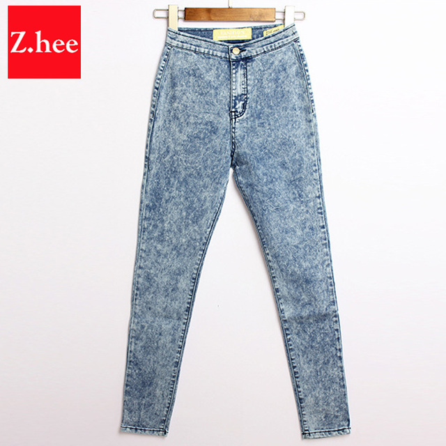 Aliexpress.com : Buy Snow White Colour High Waist Pencil Jeans ...
